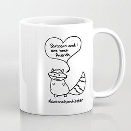 Animals on Tinder: Sarcastic Raccoon Coffee Mug