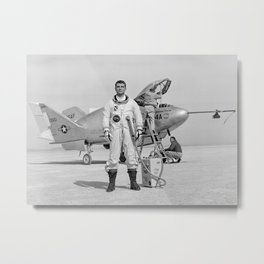 X-24A on Lakebed Metal Print