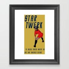STAR TWERK Framed Art Print