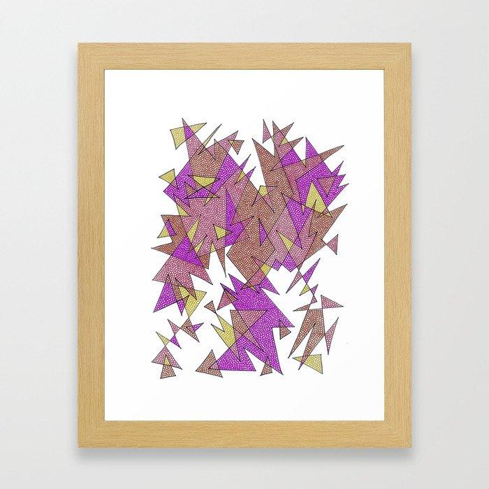Abstract Edges #3 Framed Art Print