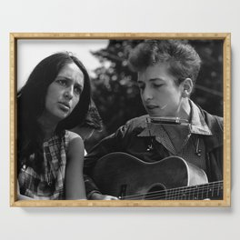 Bob Dylan and Joan Baez at the March on Washington, 1963 Serving Tray