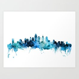 Philadelphia Pennsylvania Skyline Art Print