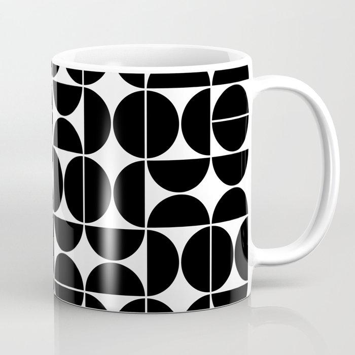 Mid Century Modern Geometric 04 Black Kaffeebecher