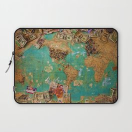 Risk Travel Map (Color) Laptop Sleeve