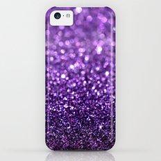 purple glitter I iPhone 5c Slim Case