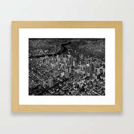 Philadelphia in BW Framed Art Print