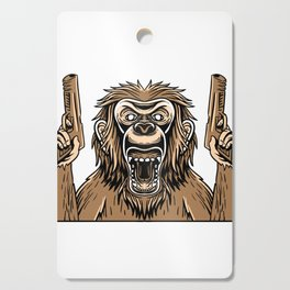If You're Going Fight Like You're The 3rd Monkey Cutting Board