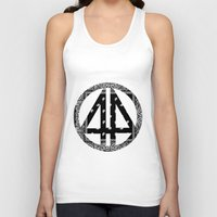 bands Tank Tops featuring Floral bands by ART ON CLOTH