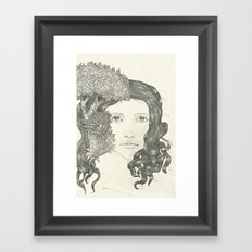 Graphite Trees Framed Art Print