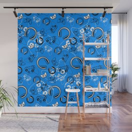 Gamers-Blue Wall Mural