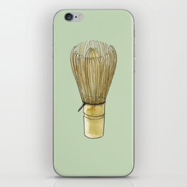 Chasen. Matcha whisk iPhone Skin
