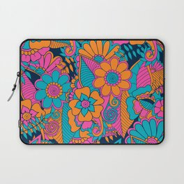 Abstract Floral Pattern Laptop Sleeve