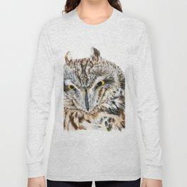 Short-Eared Owl by Teresa Thompson Long Sleeve T-shirt