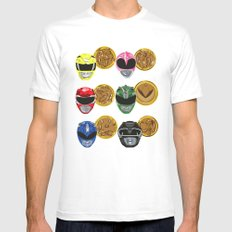 MMPR White MEDIUM Mens Fitted Tee