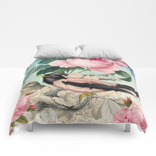 Vintage birds #3 Comforters