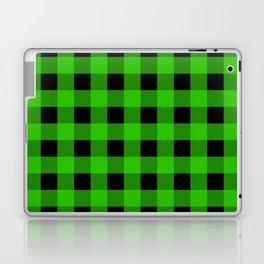 Grass Green and Black Buffalo Check Laptop & iPad Skin