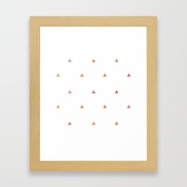 Rose Gold Triangles Framed Art Print