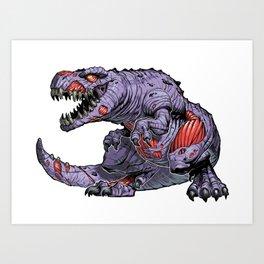 ZomBsaurus Rex purple Art Print