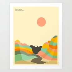 ZION NATIONAL PARK Art Print