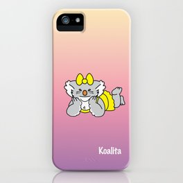 Lying Koalita iPhone Case