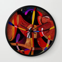 Abstract red expression Wall Clock