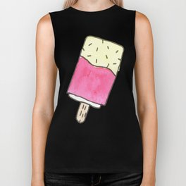 Cute pink candy and ice-cream Biker Tank