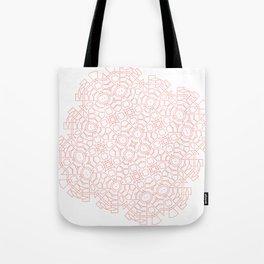 Mandala Living Coral Tote Bag