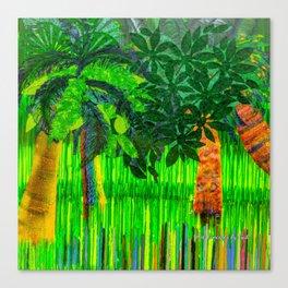Palm's Rainbow Roots Canvas Print