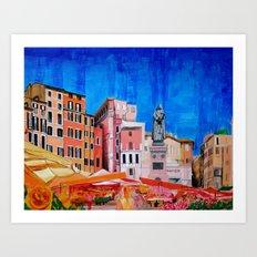 Campo de' Fiori Roma Art Print
