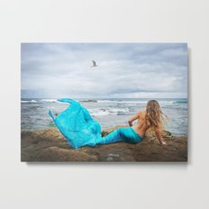 Blue Mermaid Metal Print