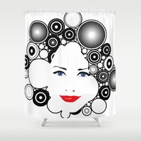 lady Shower Curtains featuring Lady  by kgkramer