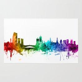 Leeds England Skyline Rug