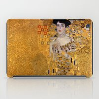 gustav klimt iPad Cases featuring Adele Bloch-Bauer I by Gustav Klimt by Palazzo Art Gallery