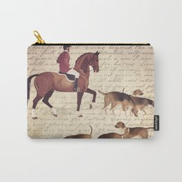 English country foxhunt print Carry-All Pouch