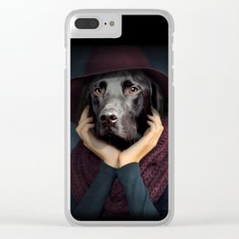 thinking,dog Clear iPhone Case