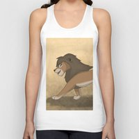 lions Tank Tops featuring Running lions by Drawing For Hope