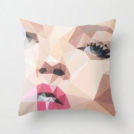 Miss Moss Throw Pillow