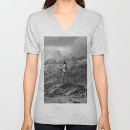 Awesome Nature Nude Hike Unisex V-Neck