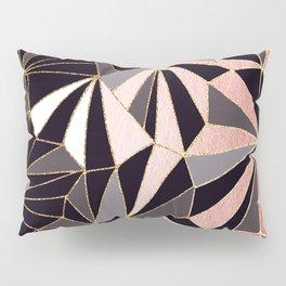 Stylish Art Deco Geometric Pattern - Black, Coral, Gold #abstract #pattern Pillow Sham