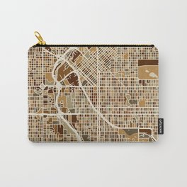 Denver Colorado Street Map Carry-All Pouch