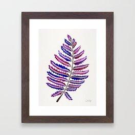 Fern Leaf – Indigo Palette Framed Art Print