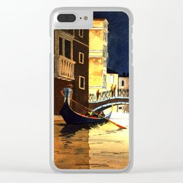 Evening In Venice Italy Clear iPhone Case
