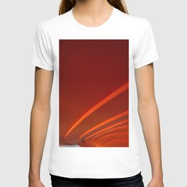 White and Red with lines T-shirt