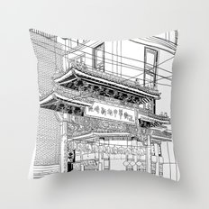 Nagasaki - China Town Throw Pillow