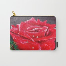Red Red Rose Acrylic Painting Carry-All Pouch