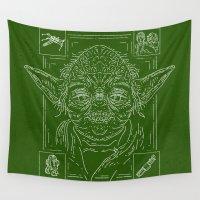 yoda Wall Tapestries featuring Yoda by Jon Deviny