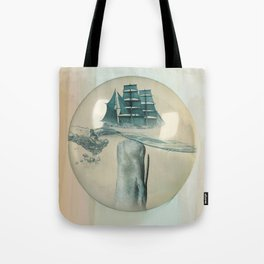 The Battle - Captain Ahab and Moby Dick Tote Bag