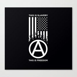 Anrchy is freedom Canvas Print