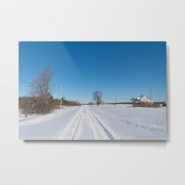 morning after the snowstorm Metal Print