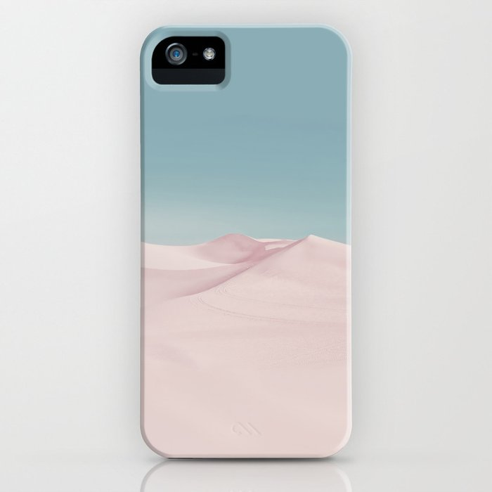 Surreal Pastel Desert Travel Art iPhone Case